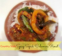 Country Style Spicy squid/calamari roast